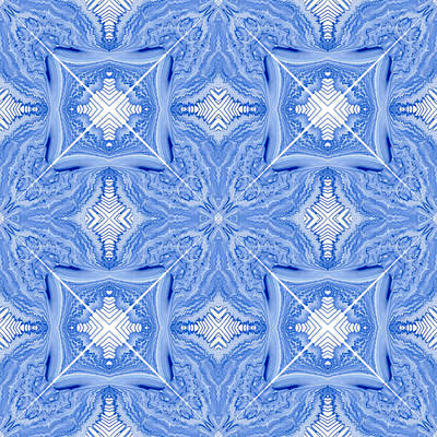 Handcrafted Digital Art - Tiles X And Squares by Lori Kingston