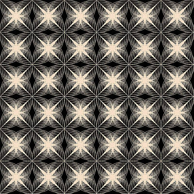Black Background Digital Art - Tiles.2.134 by Gareth Lewis