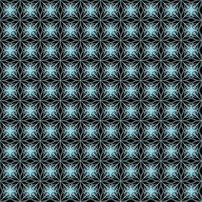 Black Digital Art - Tiles.2.202 by Gareth Lewis