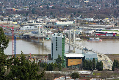 Photograph - Tilikum Crossing Over Willamette River by Jit Lim