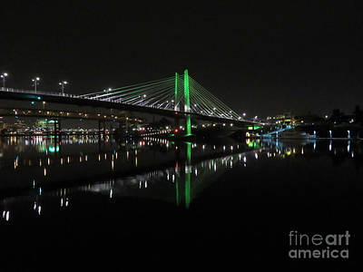 Photograph - Tilikum Crossing Portland Or by Cindy Murphy - NightVisions