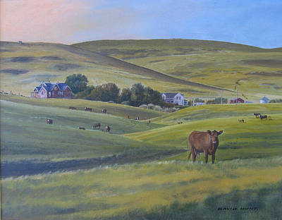 Till The Cows Come Home Art Print by David Hunt