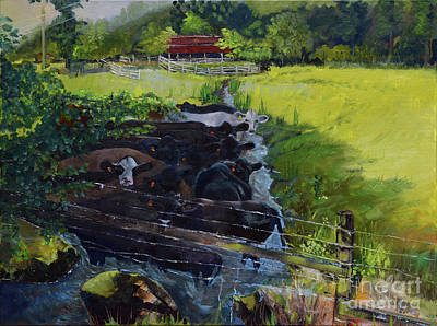 Painting - Till The Cows Come Home by Jan Dappen