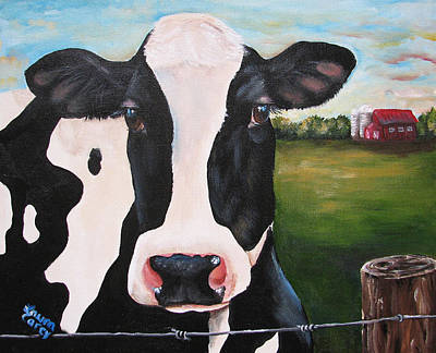 Till The Cows Come Home Art Print by Laura Carey