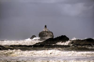 Granger Photograph - Tillamook Lighthouse by Brad Granger