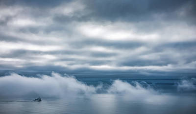 Photograph - Tillamook Rock Lighthouse In The Clouds by Don Schwartz