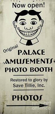 Photograph - Tillie Photo Booth Sign by Colleen Kammerer