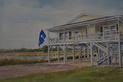 Painting - Tillman Beach Home by Gloria Turner