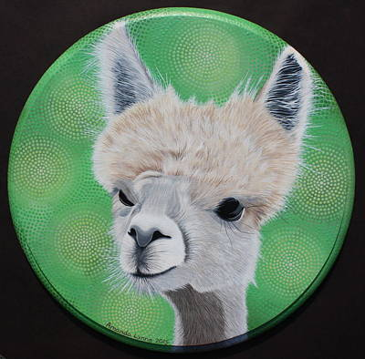 Painting - Tilly Foster Alpaca by Amanda  Lynne