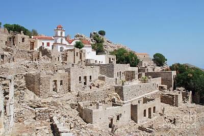 Photograph - Tilos Island Ruins by David Fowler