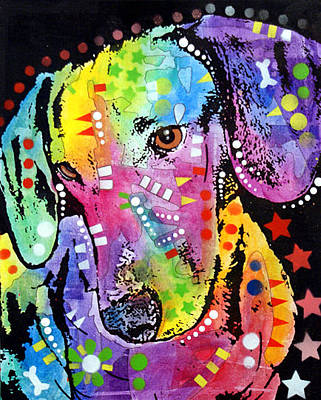 Akc Painting - Tilted Dachshund by Dean Russo