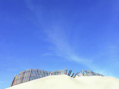 Photograph - Tilted Dune Fence by Stan  Magnan
