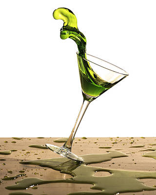 Martini Royalty-Free and Rights-Managed Images - Tilted Martini by Chad Naujoks