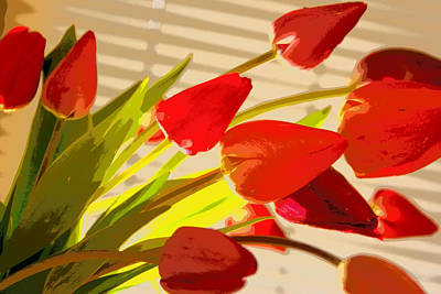 Photograph - Tilted Tulips by Julie Lueders