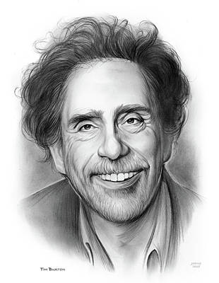 Drawings - Tim Burton by Greg Joens