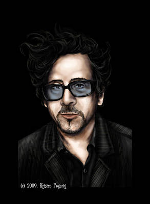 Tim Burton Art Print by Kristen Fogarty