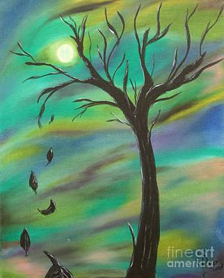 Tim Burton Tree Art Print by Sesha Lee