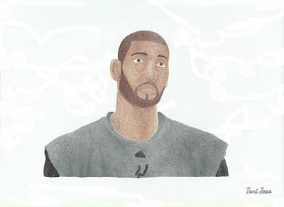 Drawing - Tim Duncan by Toni Jaso