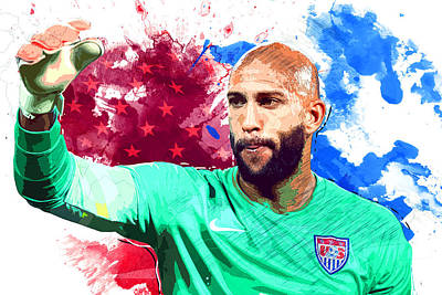 Landon Donovan Digital Art - Tim Howard by Semih Yurdabak