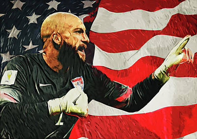 Football Royalty-Free and Rights-Managed Images - Tim Howard by Zapista