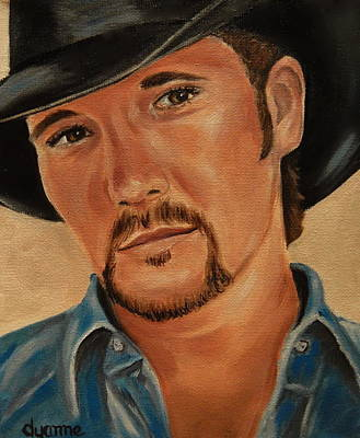 Tim Painting - Tim Mcgraw Celebrity Painting by Dyanne Parker