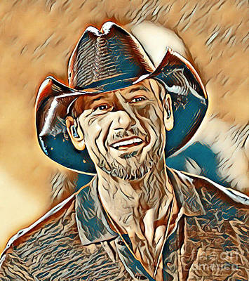 Tim Mcgraw Painting - Tim Mcgraw Painting by Tim McGraw Painting