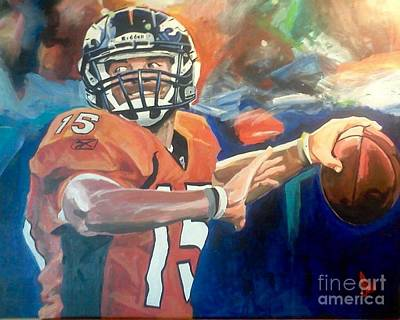 Tebow Gators Painting - Tim Tebow #2 by Ian Jackson