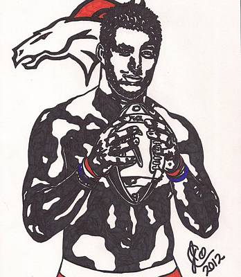 Tim Tebow Drawing - Tim Tebow 2 by Jeremiah Colley