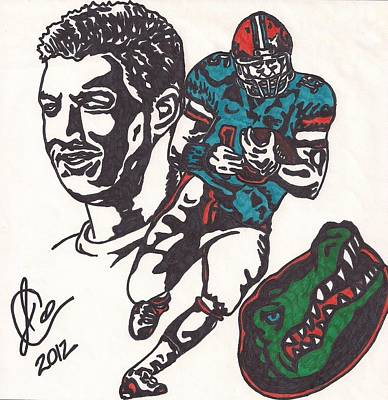 Tim Tebow Drawing - Tim Tebow Gators by Jeremiah Colley