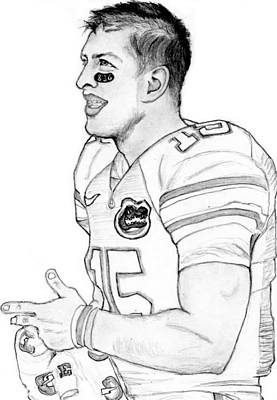 Tim Tebow Art Print
