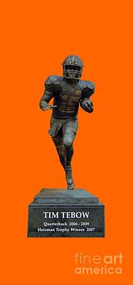 Photograph - Tim Tebow Transparent For Customization by D Hackett