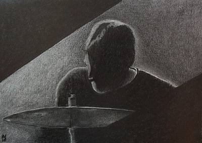 Jazz Drawing - Timbale Jim by Nick Young