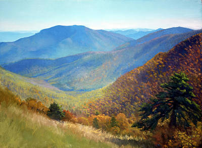 Beautiful Mountains Painting - Timber Hollow Overlook by Armand Cabrera