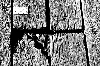 Photograph - Timber Pattern With Metal by Nareeta Martin
