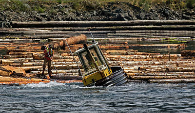 Photograph - Timber Rafting - 365-101 by Inge Riis McDonald