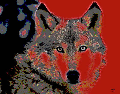 Timber Wolf Art Print by Charles Shoup