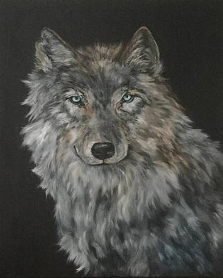 Painting - Timber Wolf by Jean Walker