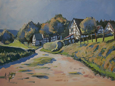 Autumn Painting - Timbered Houses In Terziet by Nop Briex