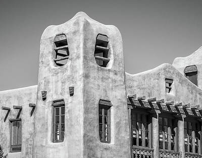 Photograph - Timbered Structure In Bw by James Barber