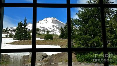 Photograph - Timberline Lodge View by Theresa Willingham