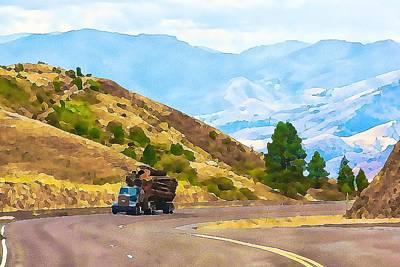 Photograph - Timbers Truck In Idaho by Tatiana Travelways