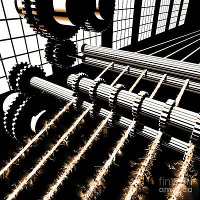 Digital Art - Time Aerials Industrial Revolutions by Russell Kightley