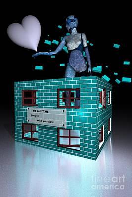Surrealistic Digital Art - Time Agency by Issabild -