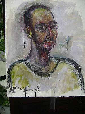 Self-portrait Mixed Media - Time And Again by Noredin Morgan
