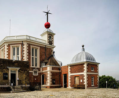 Photograph - Time Ball Flamsteed House Greenwich  by Shirley Mitchell