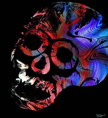 Metal Digital Art - Time Battles Ideas by Abstract Angel Artist Stephen K