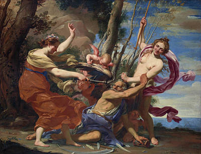 Liberation Painting - Time Defeated By Hope And Beauty by Simon Vouet