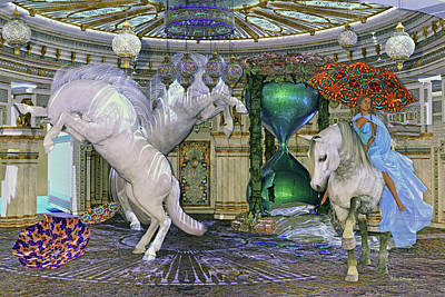 Animals Digital Art - Time Escapes Me by Betsy Knapp