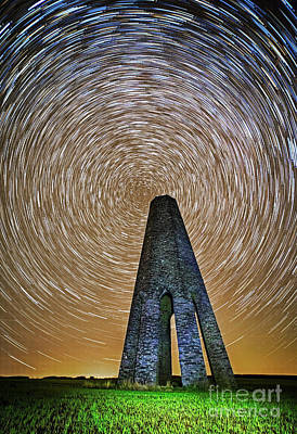Stary Photograph - Time Flies Over The Daymark by Sebastien Coell