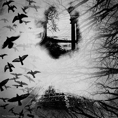 Digital Art - Time Flies by Wesley Nesbitt